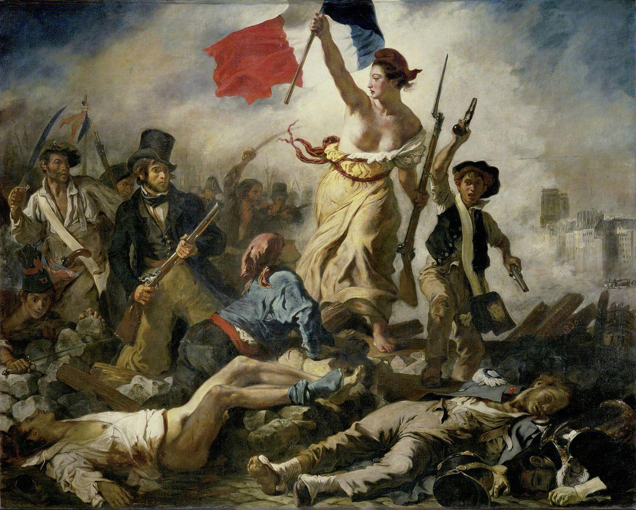 la libert guidant le peuple - Englisch Bildbeschreibung Muster
