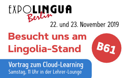 Besucht uns auf der EXPOLINGUA 2019 in Berlin am 