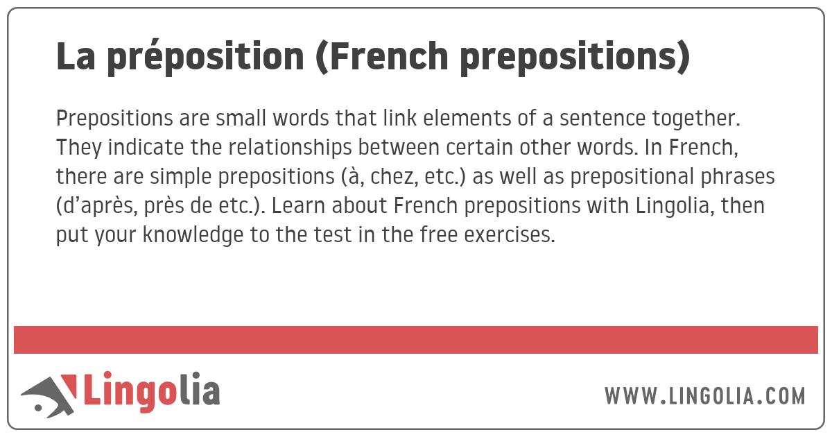 Word Sample Of Preposition