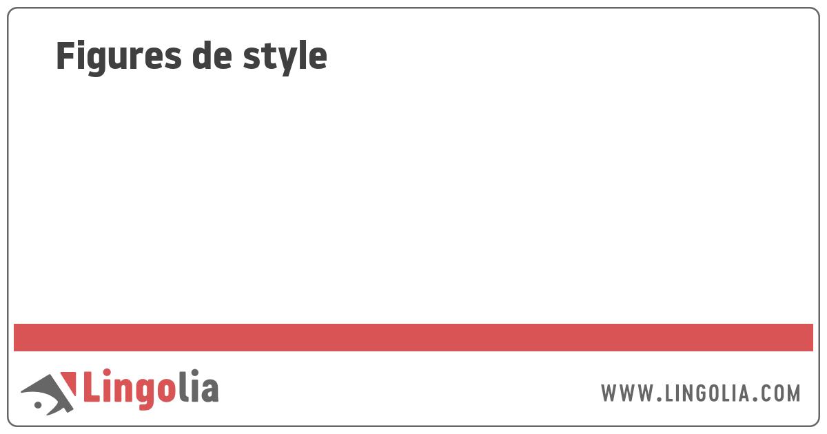 Exemple D Oxymore Figure De Style - Le Meilleur Exemple