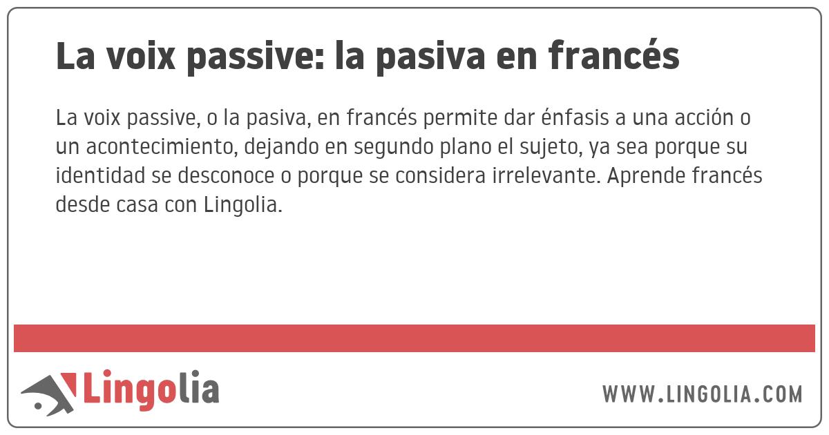 voz pasiva y activa en español pdf